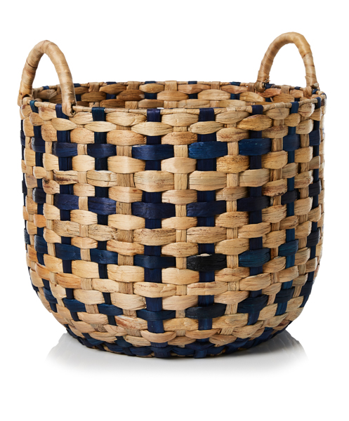 ADAIRS LISBOA BASKET IN BLUE NATURAL