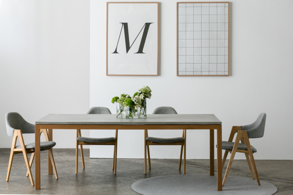 HANDKRAFTED INTERIORS VENICE CONCRETE DINING TABLE