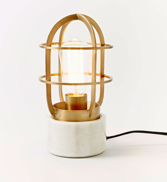 WEST ELM MINI INDUSTRIAL CAGE LAMP