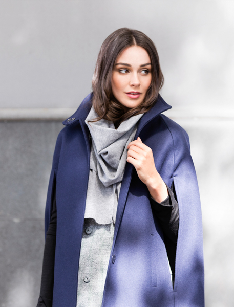 ALLORA CASHMERE SINGLE BREASTED CAPE
