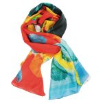 COLOUR CHEMISTRY DAPPLED SILK SCARF