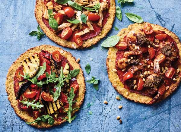 Easy cauliflower pizzas